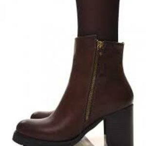 Dream pairsheeled and zipper ankle boots for women